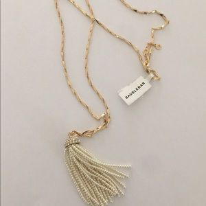 NWT Bauble Bar Pearl Tassel Necklace